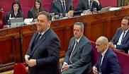 Oriol Junqueras, durante su declaración en la segunda jornada del...