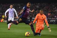 Kevin-Prince <HIT>Boateng</HIT>, durante el partido del Barça ante el Valladolid.