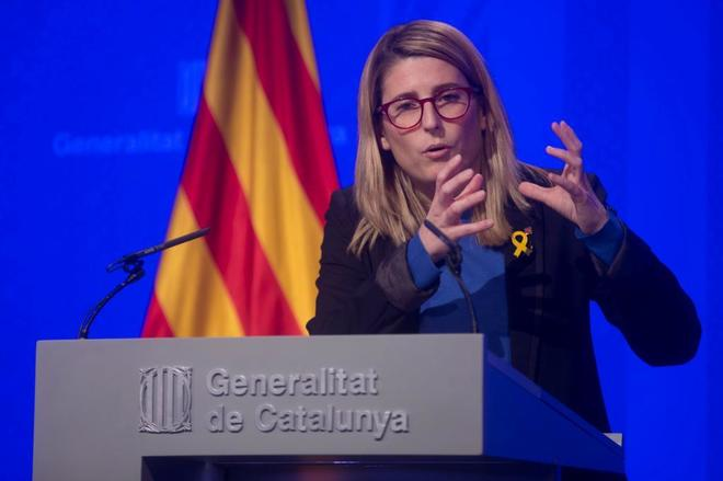 La 'consellera' de Presidencia y portavoz del Govern catalñan, Elsa...