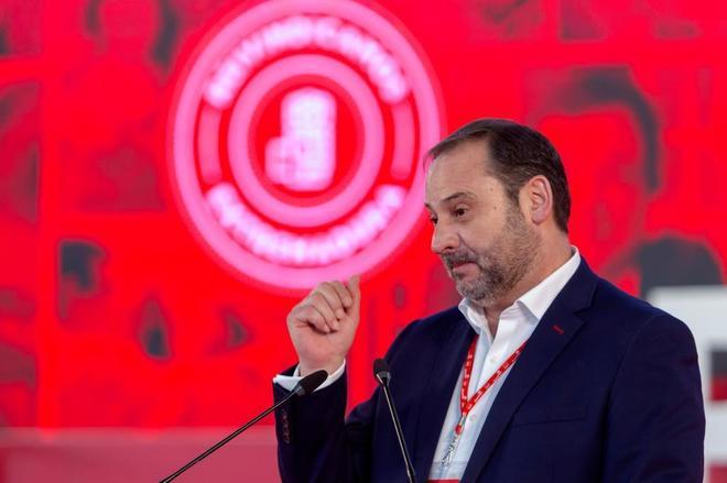 José Luis Ábalos, el sábado en Mérida, tras el incidente de la...