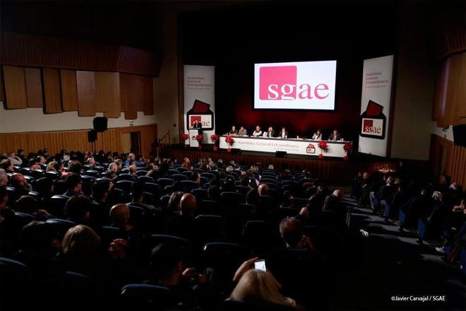 Asamblea extraordinaria de la SGAE, celebrada el pasado diciembre.