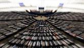 Los miembros del Parlamento Europeo participan en una sesión sobre un...