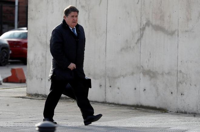 El exvicepresidente de Bankia y presidente de Bancaja, José Luis Olivas, a la llegada al juicio