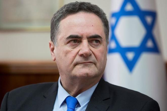 El nuevo ministro de Exteriores irsraelí en funciones, Israel Katz, durante una reunión del gobierno en Jerusalén.