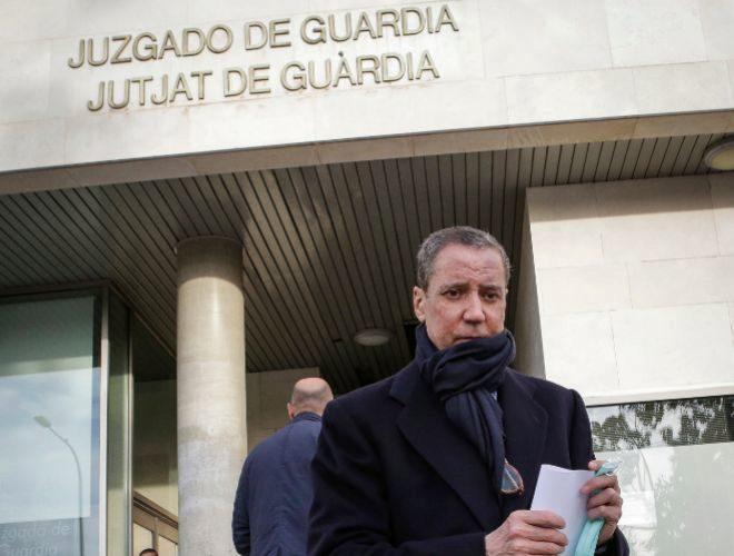 Eduardo Zaplana, la semana pasada en la Ciudad de la Justicia de Valencia.
