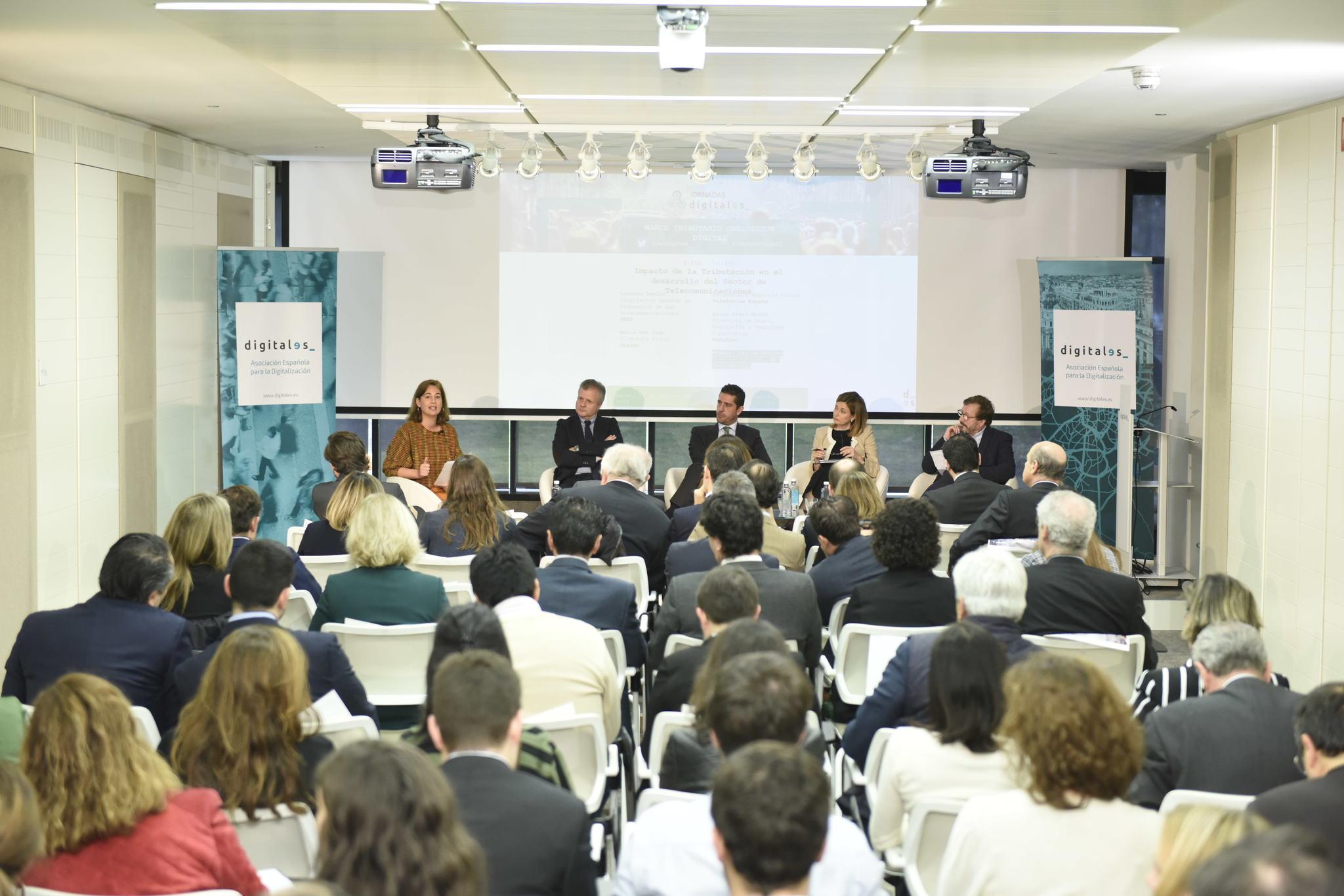 Jornada sobre tributación digital organizada por la organización DigitalES.
