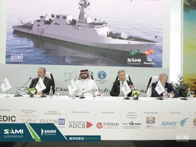 Fahad Al Ghafily, comandante de la Marina Saudí y el presidente de Sanni, Antonio Barberán.