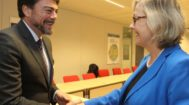 Barcala con Signe Ratso, directora adjunta de Investigación e innovación de la UE.