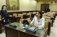 Carolina Bescansa, cofundadora y diputada de Podemos, en una comisión del Congreso.