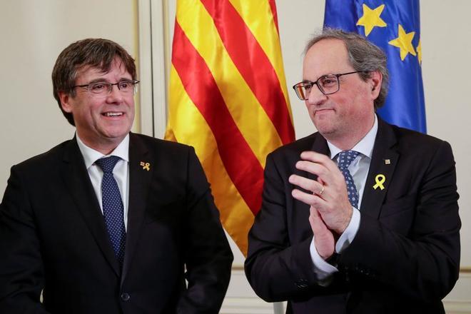 Puigdemont y Torra, en Bruselas