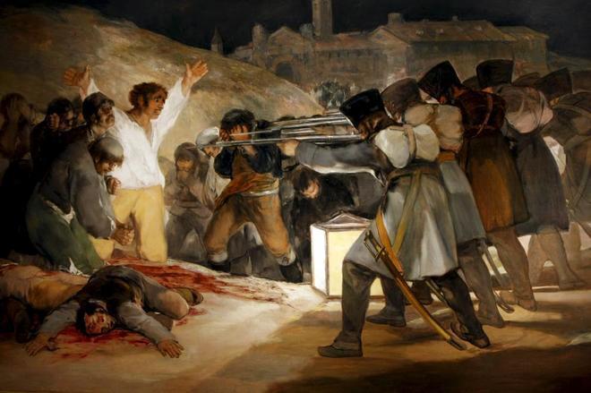 Fusilamientos del dos de mayo, Goya.