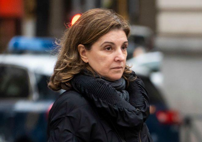 Rosalía Iglesias, esposa de Luis Bárcenas, tras declarar en la Audiencia en diciembre.
