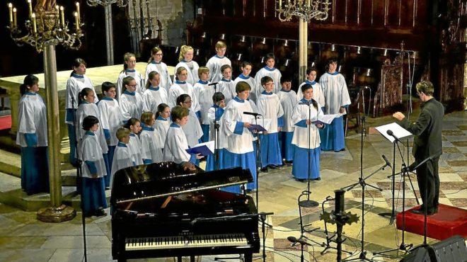 Imagen de archivo de un concierto ofrecido por Els Blauets en el Monasterio de Lluc.