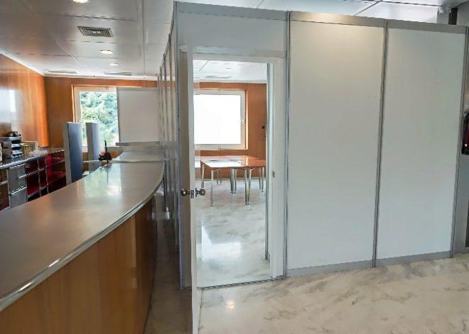 Una de las salas habilitadas en el Consell para los juzgados.