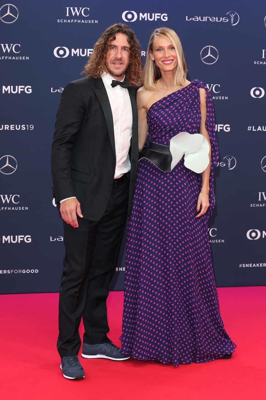 Carles Puyol y Vanessa Lorenzo - Premios Laureus 2019