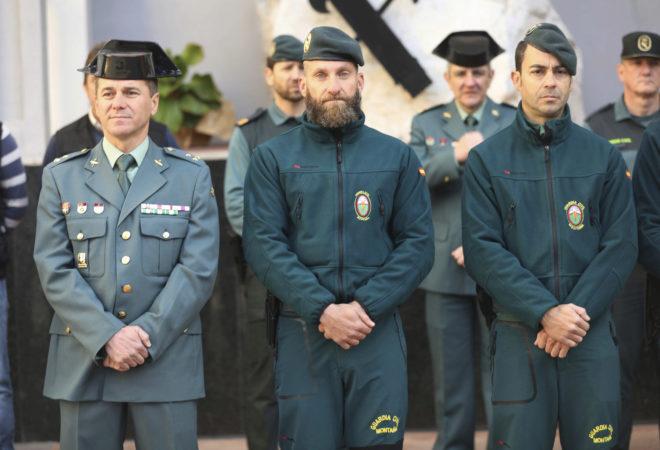 Agentes de la Guardia Civil que participaron en el equipo que permitió el rescate del cuerpo de Julen.
