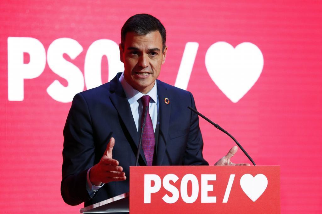 Pedro Sánchez, en la presentación de la precampaña del PSOE para...