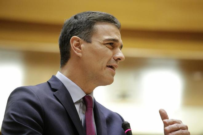 El presidente del Gobierno, Pedro Sánchez, ayer en el Congreso de los Diputados.