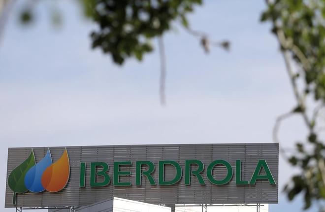 El logotipo de la empresa española de servicios públicos Iberdrola...