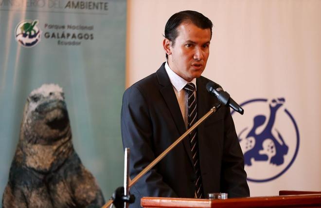 El director del Parque Nacional Galápagos (PNG), Jorge Carrión,...