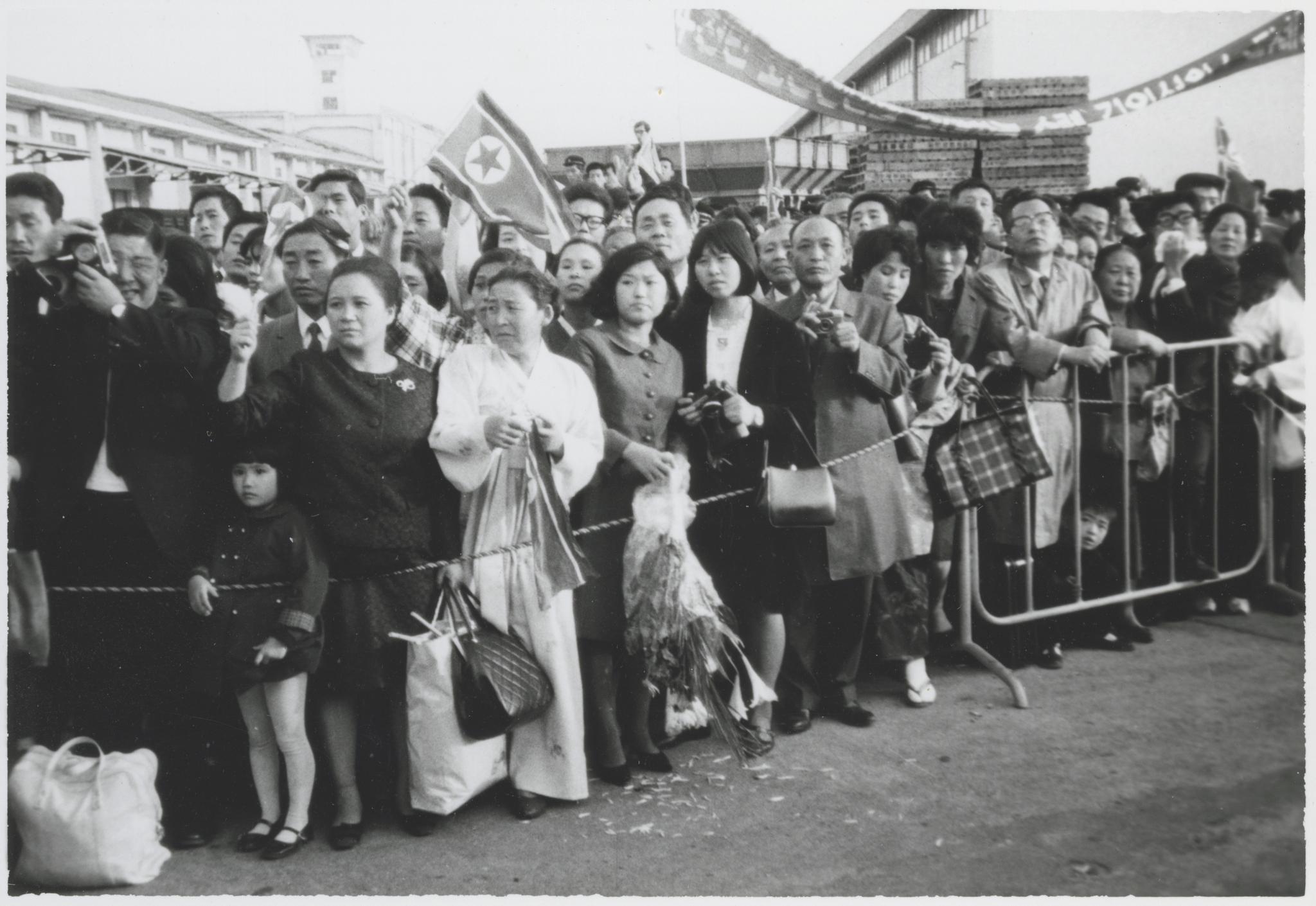 Repatriación de coreanos residentes en Japón en el puerto de Niigata.