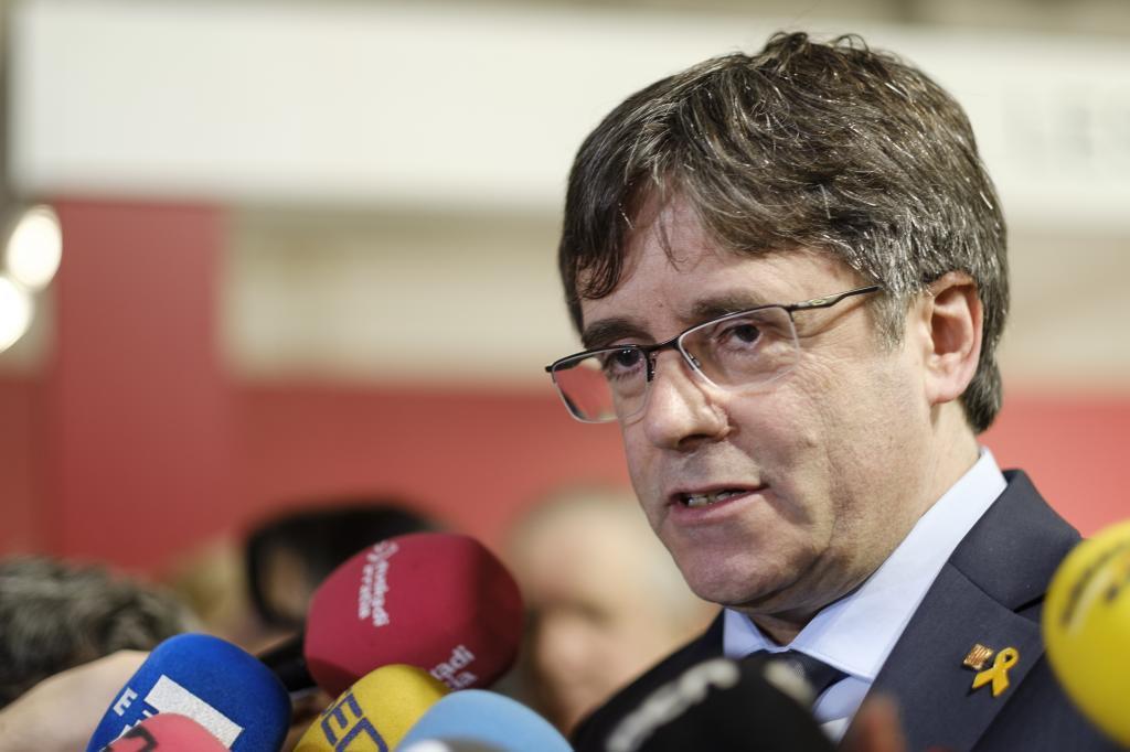 Puigdemont en una imagen del pasado lunes en Bruselas