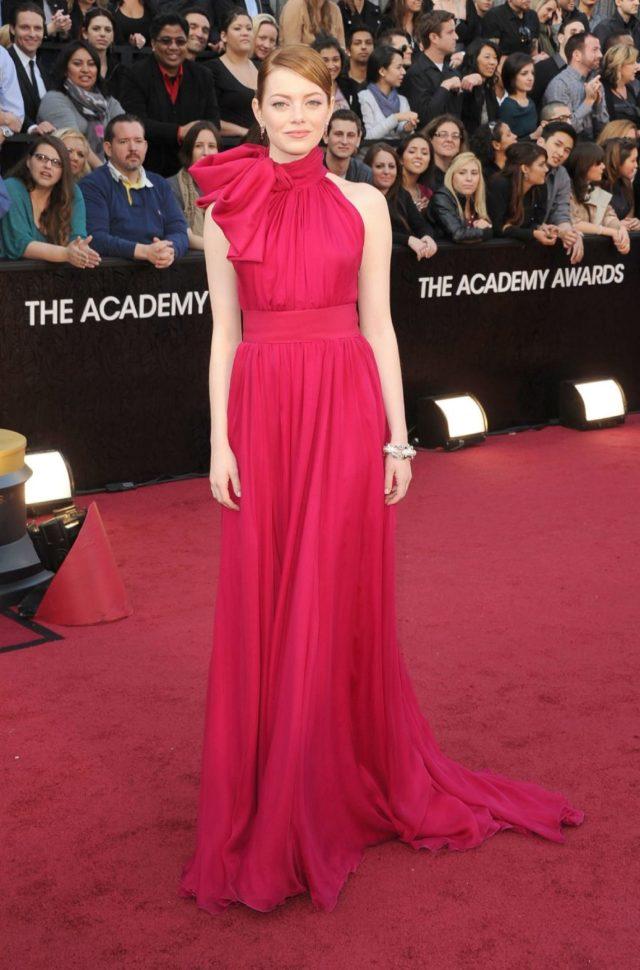 Resultado de imagen de Emma Stone en los premios Oscar 2012