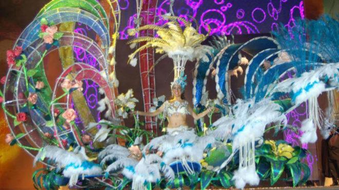 Una de las reinas del Carnaval de Vinaròs.