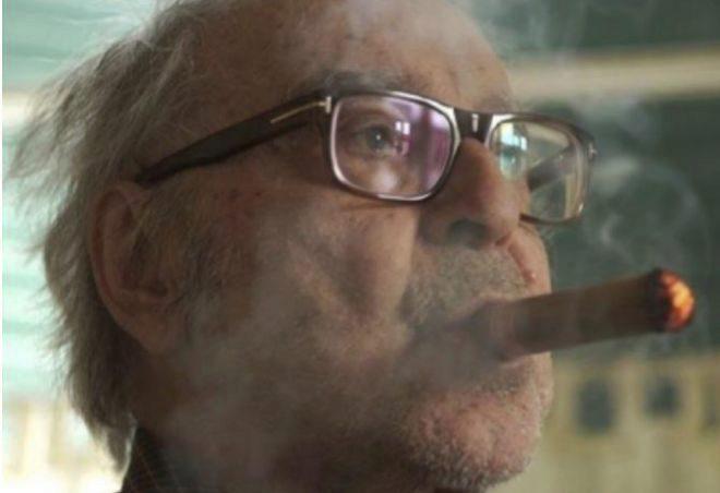 Retrato de Jean-Luc Godard.