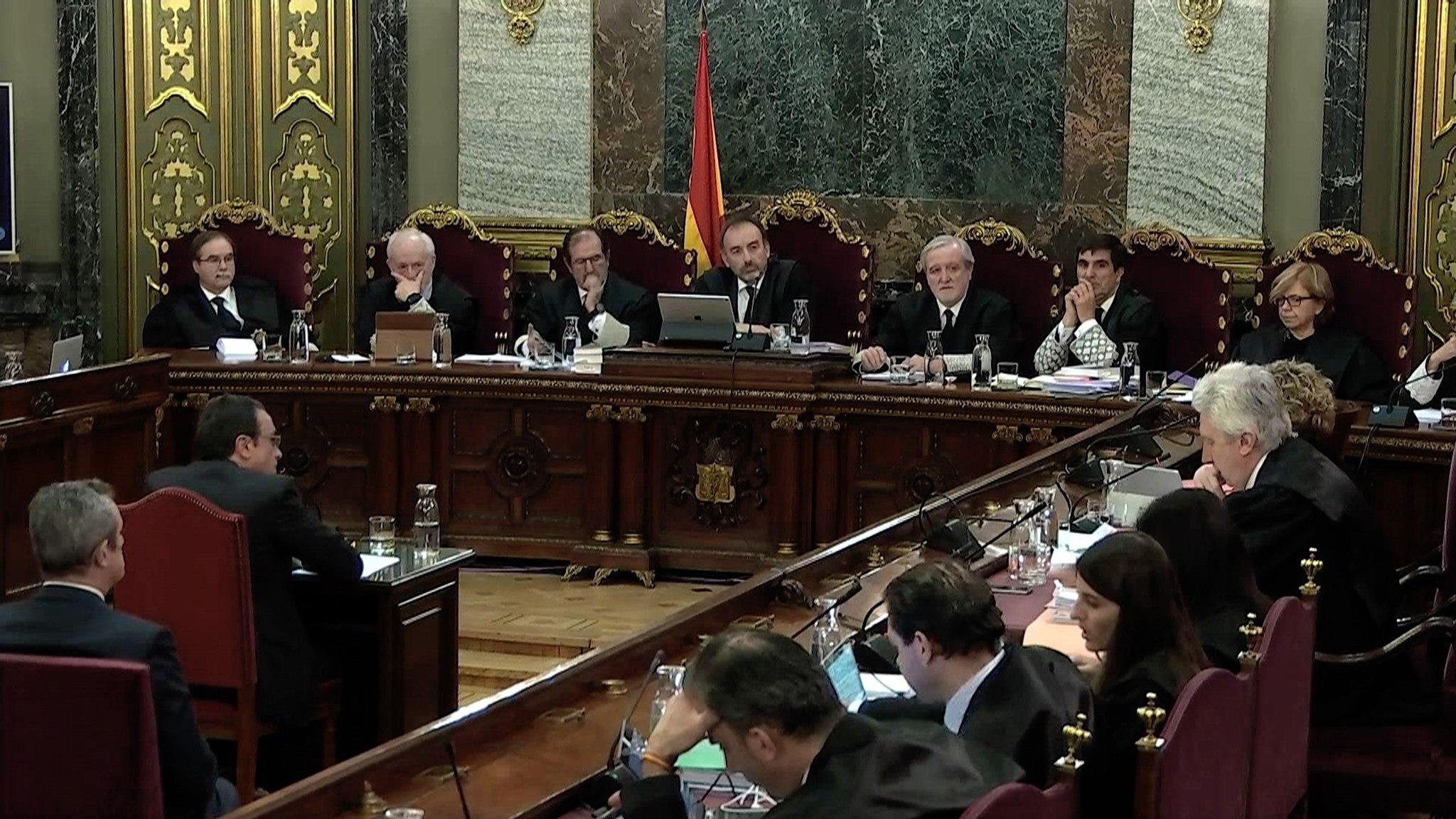 Josep Rull, durante su declaración en el juicio del 1-O.