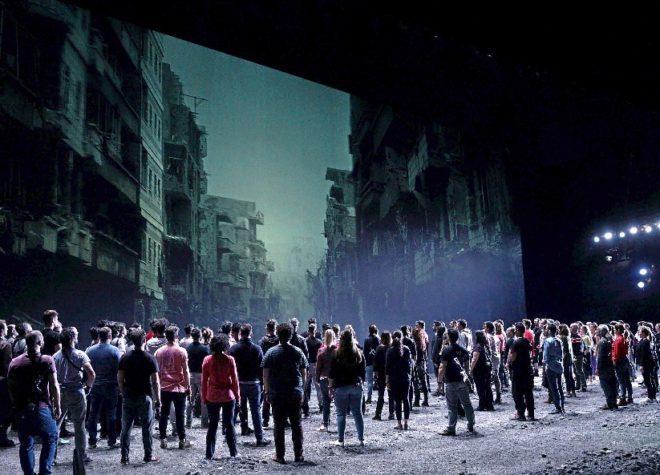 Aspecto del montaje de 'Idomeneo' en el coliseo madrileño.