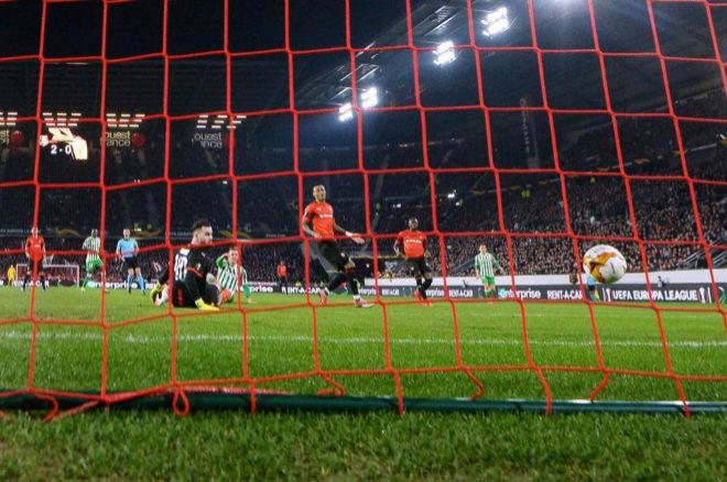 Partido de Europa League entre el Betis y el Rennes