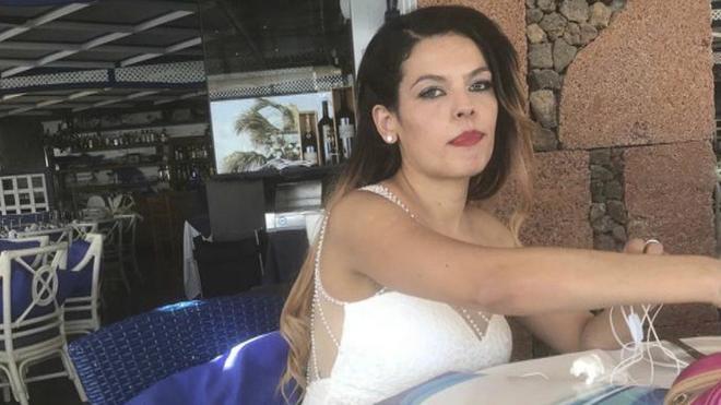 Fotografía compartida por Romina Celeste del día de su boda.