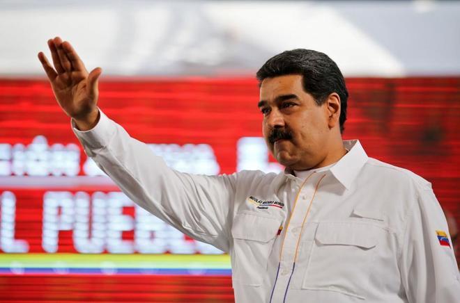 El líder revolucionario, Nicolás Maduro, en Caracas.