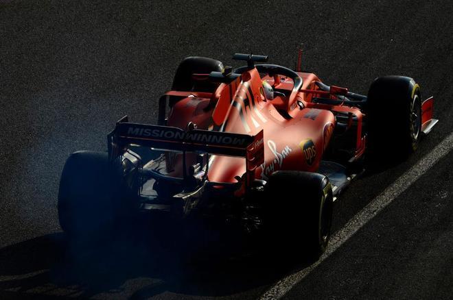 Vettel, durante los test de Montmeló, el jueves.