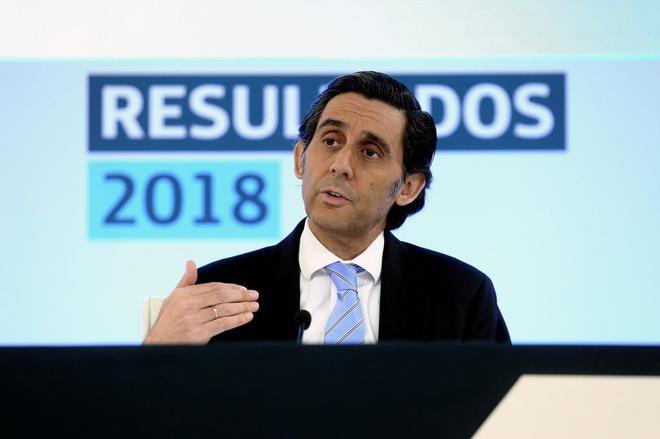 El presidente ejecutivo de Telefónica, José María Álvarez Pallete, ayer en Madrid.