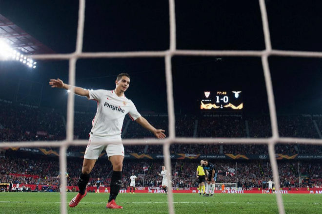 El jugador del Sevilla FC Ben Yedder durante el ultimo partido de Europa League