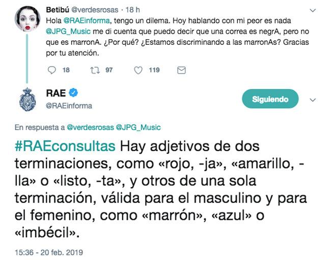 El histórico zasca de la RAE a una tuitera | Descubre
