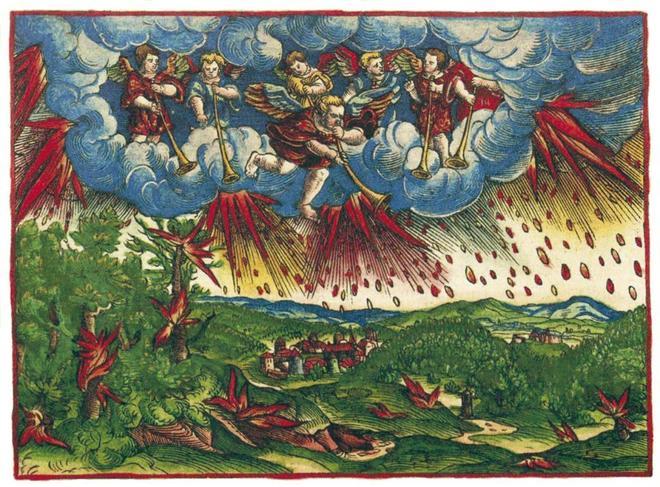 Ilustración del Apocalipsis realizada por el taller de Lucas Cranach en el siglo XV.
