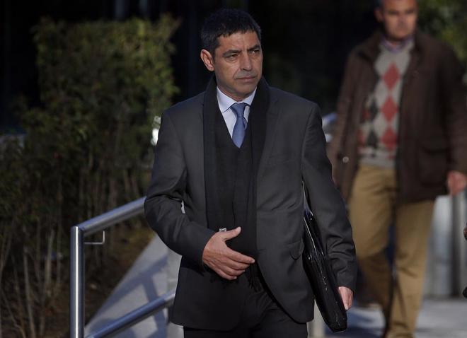 Josep Lluís Trapero, en la Audiencia Nacional en marzo de 2018.