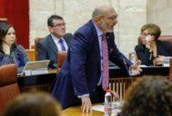 El diputado Alejandro Hernández, durante su intervención en el pleno del Parlamento este pasado jueves.