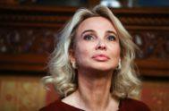 Corinna Larsen, que presume de una esplendorosa madurez, en Moscú, a principios de este mes