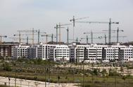 Viviendas en construcción en Arroyofresno.