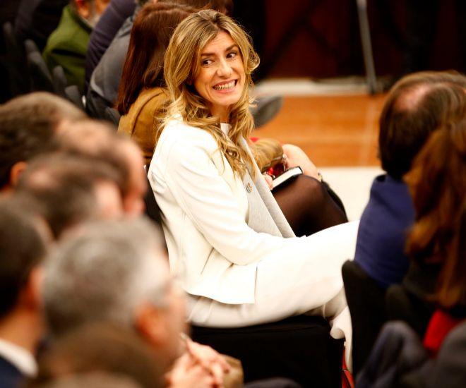 Begoña Gómez durante la presentación del libro de Sánchez