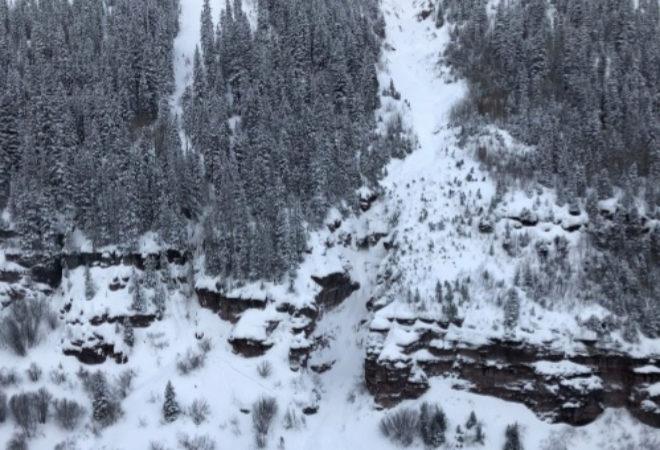 La avalancha que arrastró fatalmente al español Salvador García-Atance en Utah.