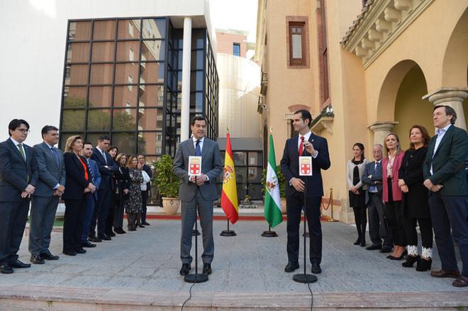 Moreno Bonilla, este viernes junto al alcalde de Almería, Ramón Fernández-Pacheco.