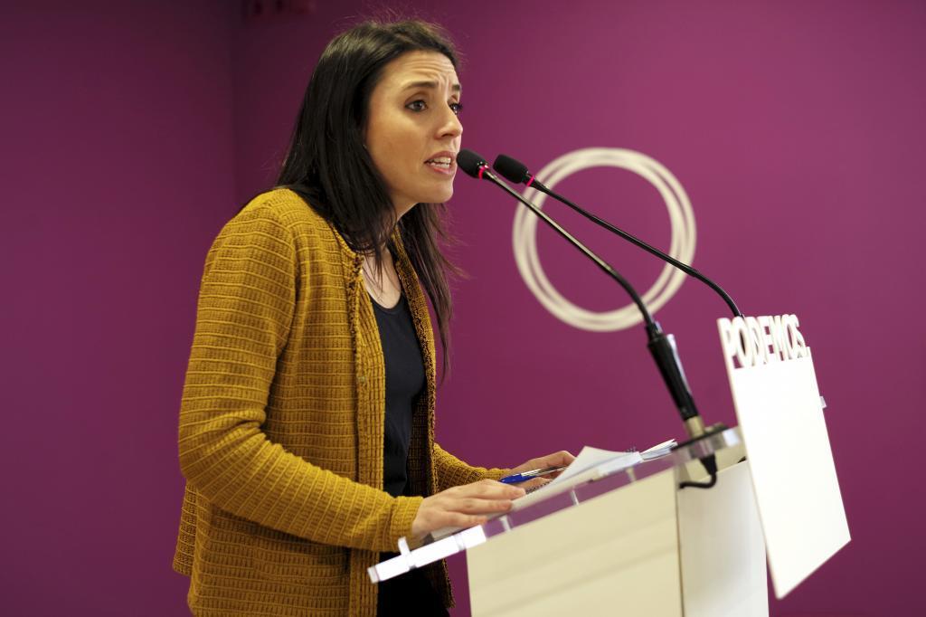 Irene Montero, a la que muchos en Podemos piden que de el paso adelante.