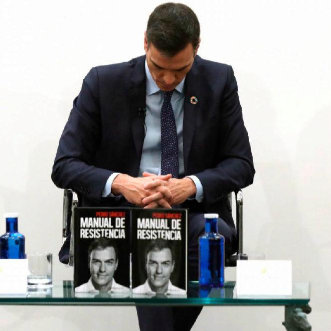 El presidente de Gobierno durante la presentación de su libro este jueves en Madrid.