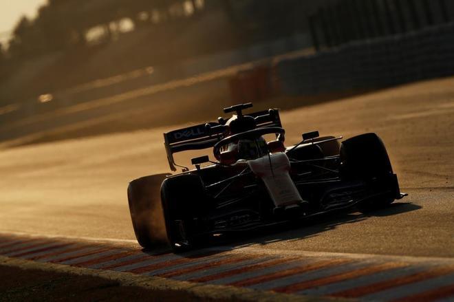 Lando Norris, durante la última sesión de entrenamientos de McLaren, el jueves.