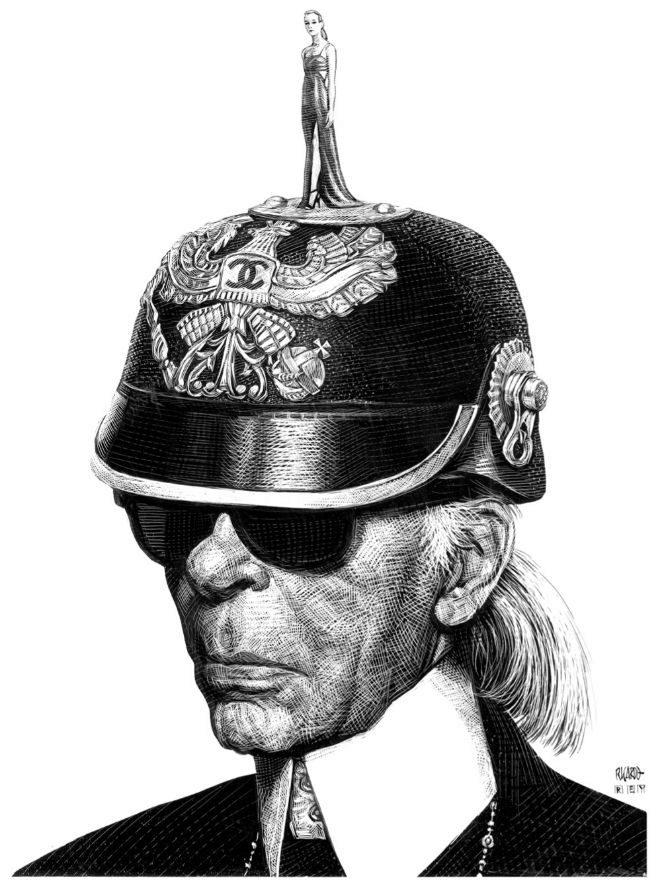 El modista Karl Lagerfeld.